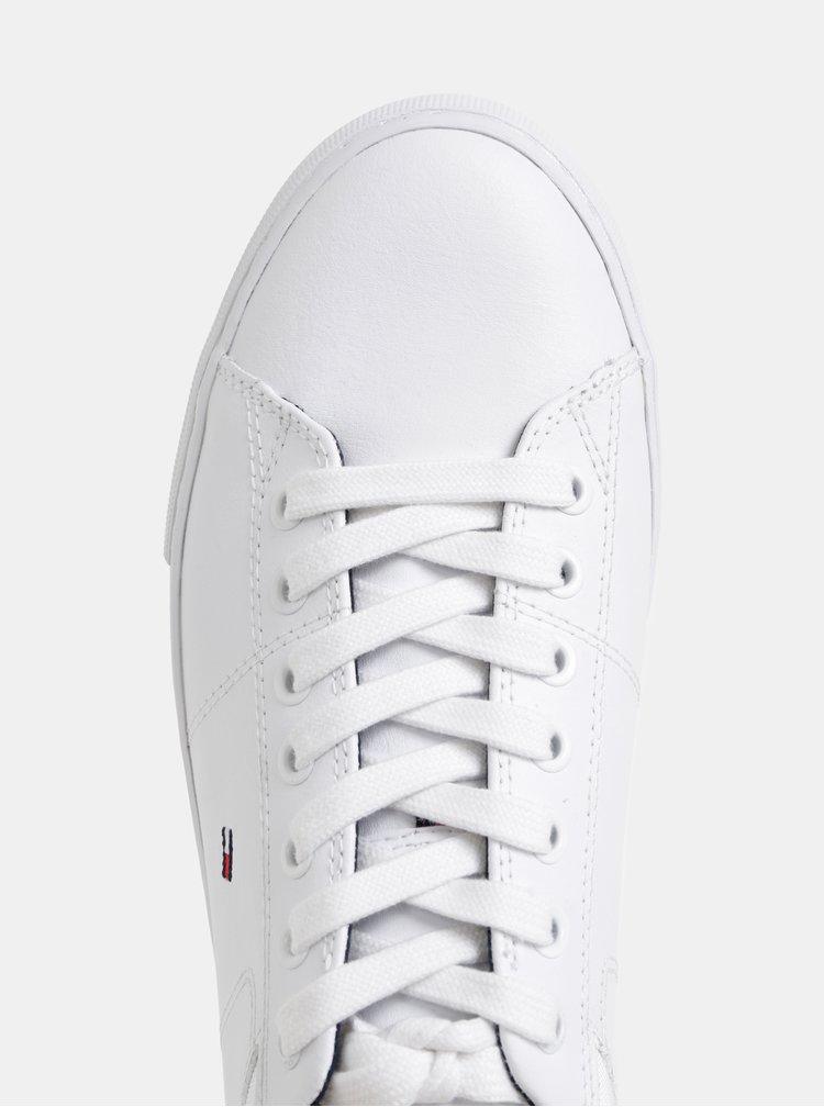 Bílé pánské kožené tenisky Tommy Hilfiger