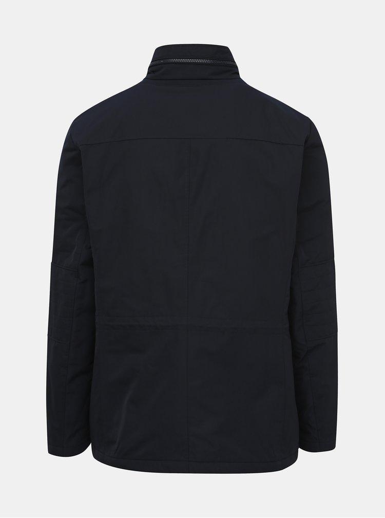 Tmavě modrá pánská voděodolná zimní bunda Geox Renny
