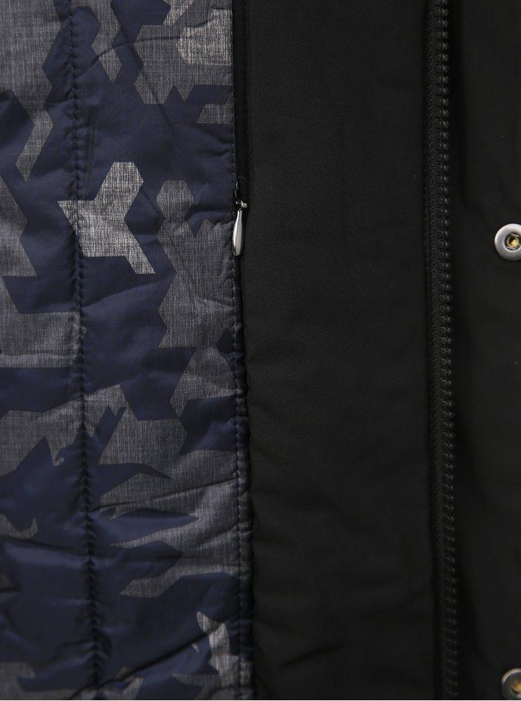 Čierna pánska vodeodolná zimná bunda Geox Vincit