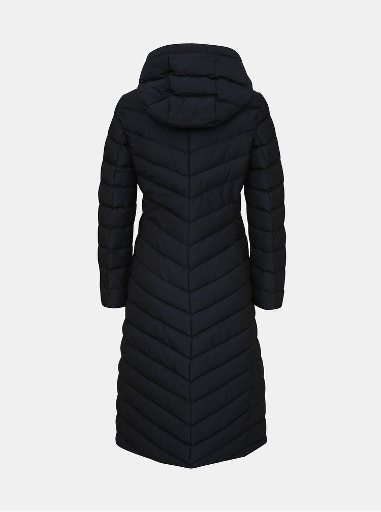 Tmavomodrý dámsky vodeodolný prešívaný zimný kabát Geox Seyla