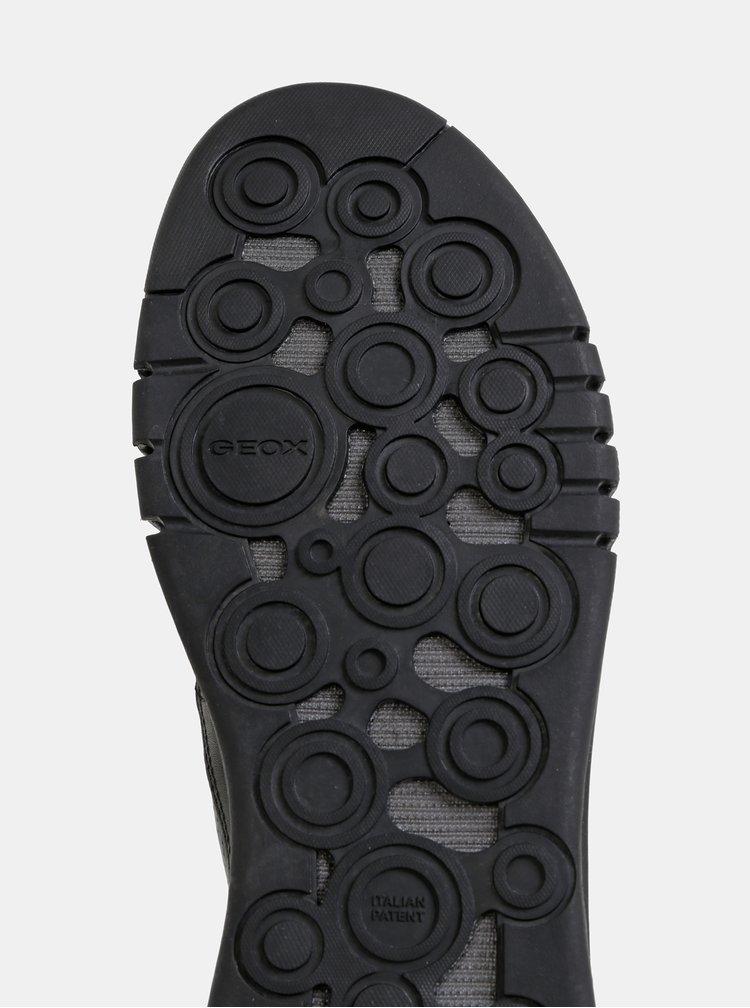Černé pánské kožené tenisky Geox Aerantis