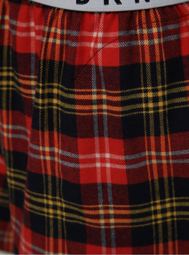 Sada dvoudílného pyžama a škrabošky v červeno-modré barvě DKNY