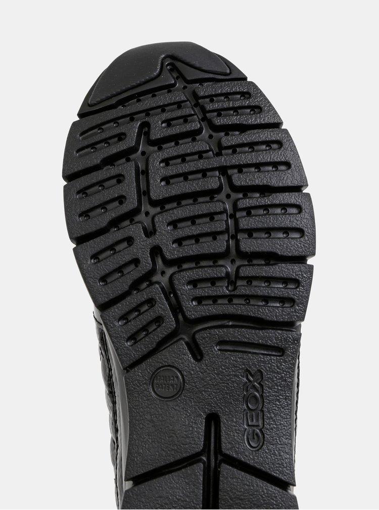 Černé dámské kožené tenisky Geox Sukie