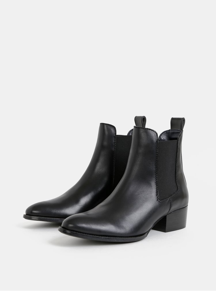 Černé dámské chelsea boty Tommy Hilfiger Pin Logo