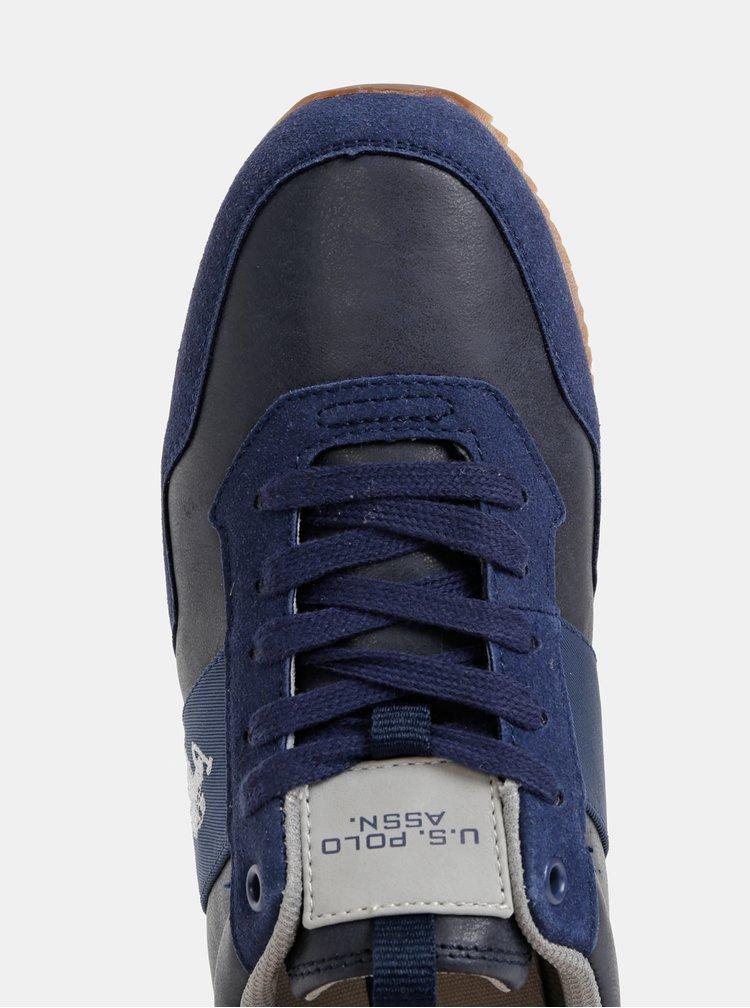 Tmavě modré pánské tenisky s detaily v semišové úpravě U.S. Polo Assn.