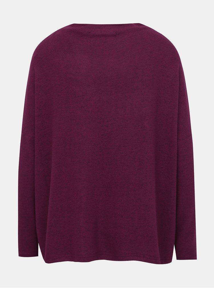 Vínový basic sveter ONLY Kleo