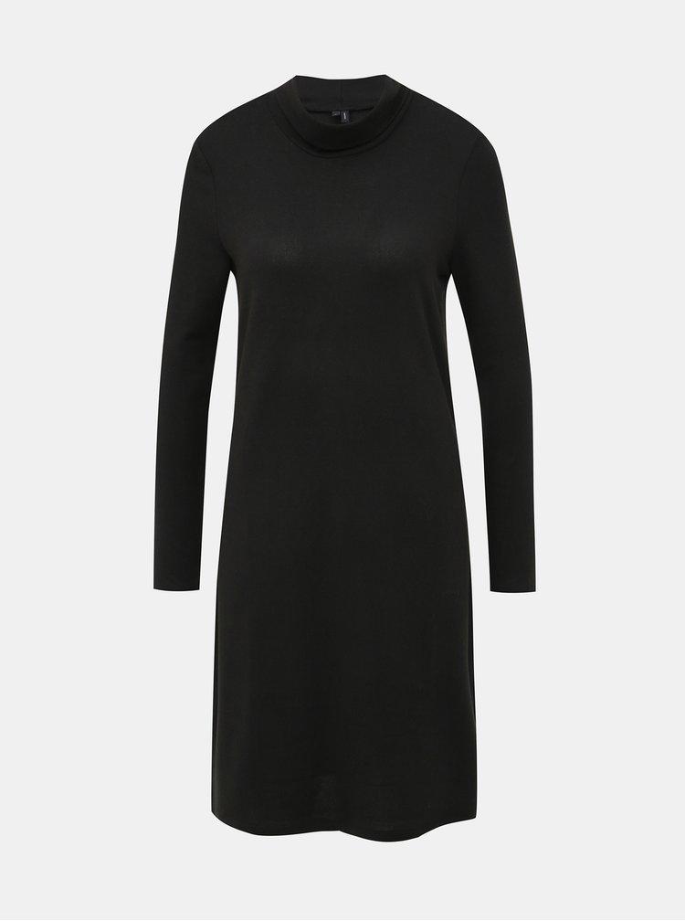 Čierne svetrové basic šaty VERO MODA Alena