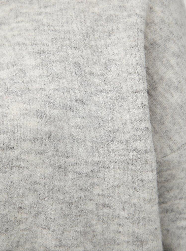 Šedý basic sveter s prímesou vlny VERO MODA Blakely