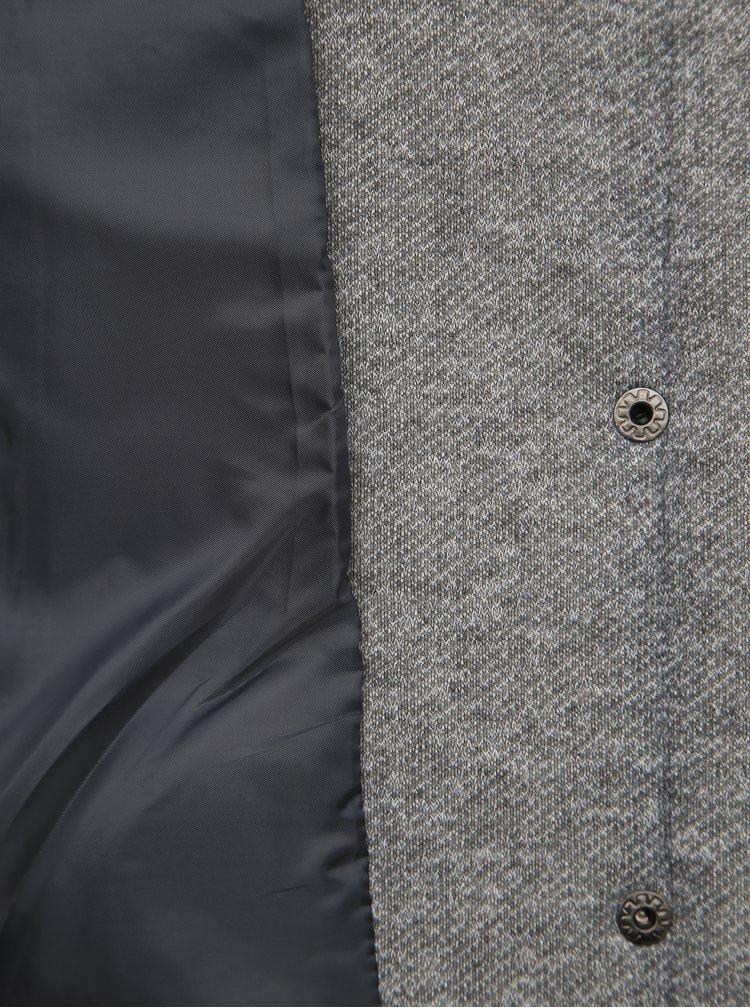 Šedý krátky kabát ONLY Sedona