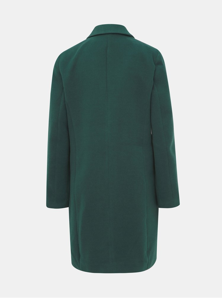 Tmavozelený kabát VERO MODA Cala