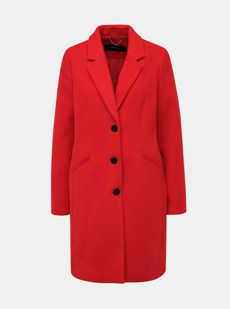 Červený kabát VERO MODA Cala