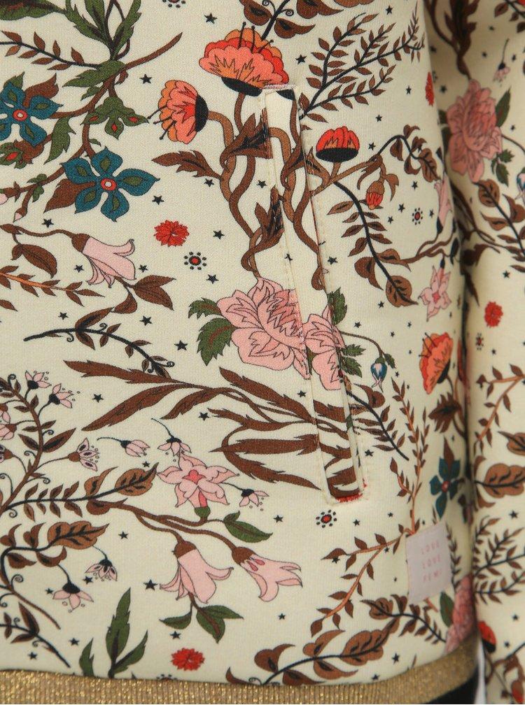Rúžová kvetovaná mikina Femi Stories Kenta