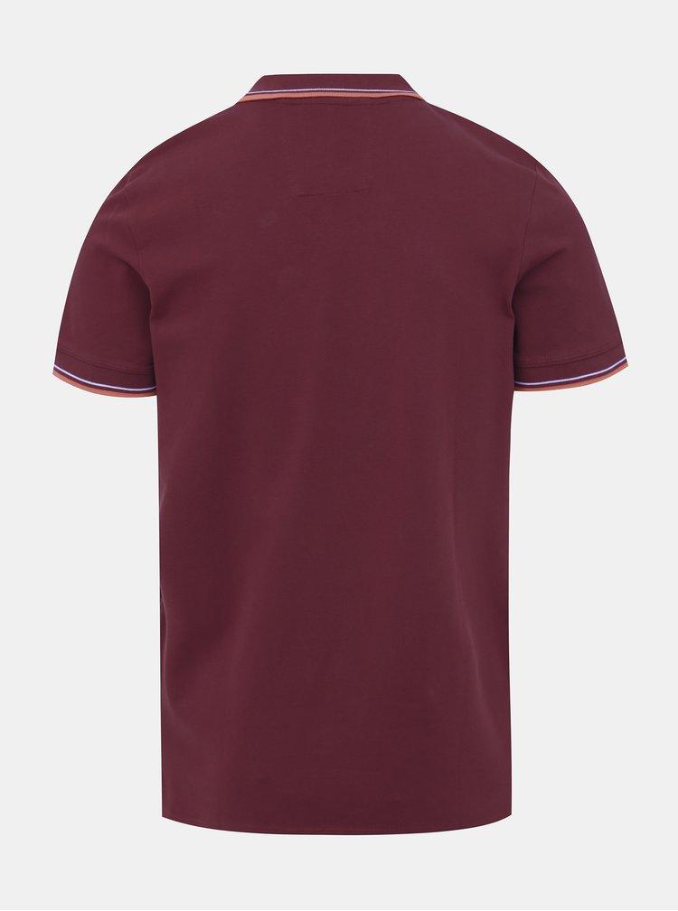 Vínové polo tričko Selected Homme Season