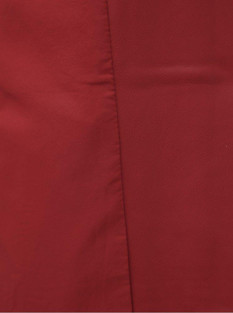 Červený dámský koženkový křivák Alcott