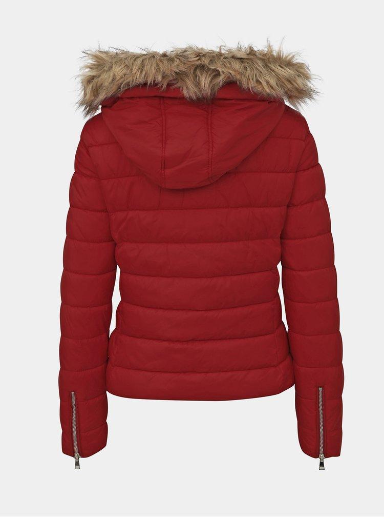 Červená dámska zimná bunda Alcott