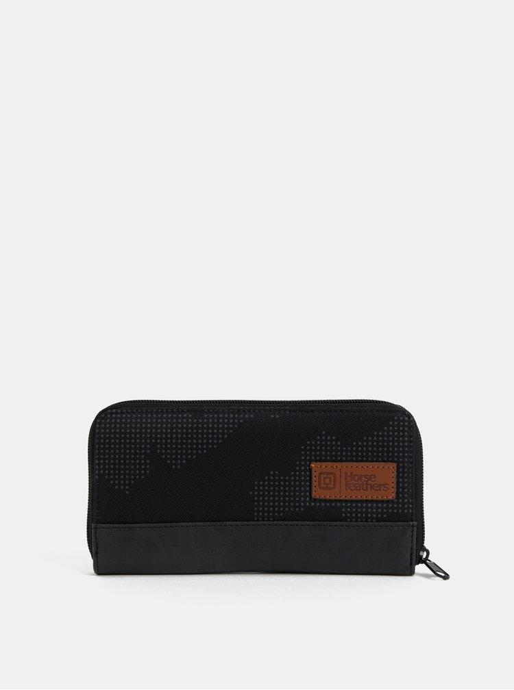 Čierna dámska vzorovaná peňaženka Horsefeathers Tate
