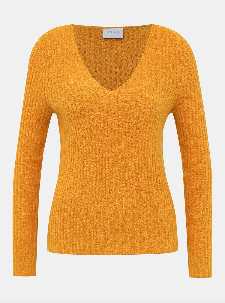 Oranžový sveter VILA Katay