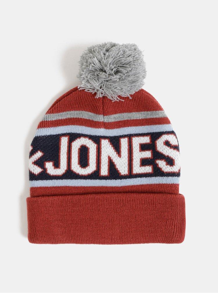 Červená čepice Jack & Jones Mac