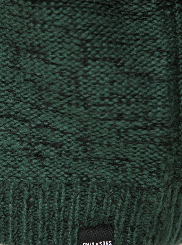 Tmavozelený sveter ONLY & SONS Callen