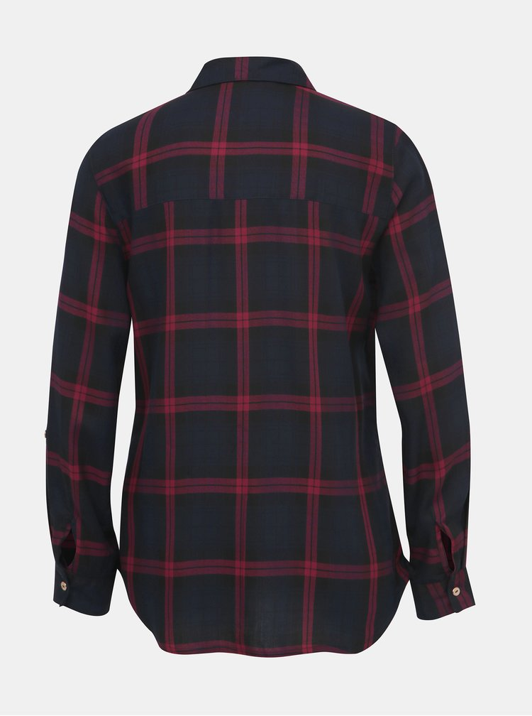 Tmavomodrá kockovaná košeľa Dorothy Perkins