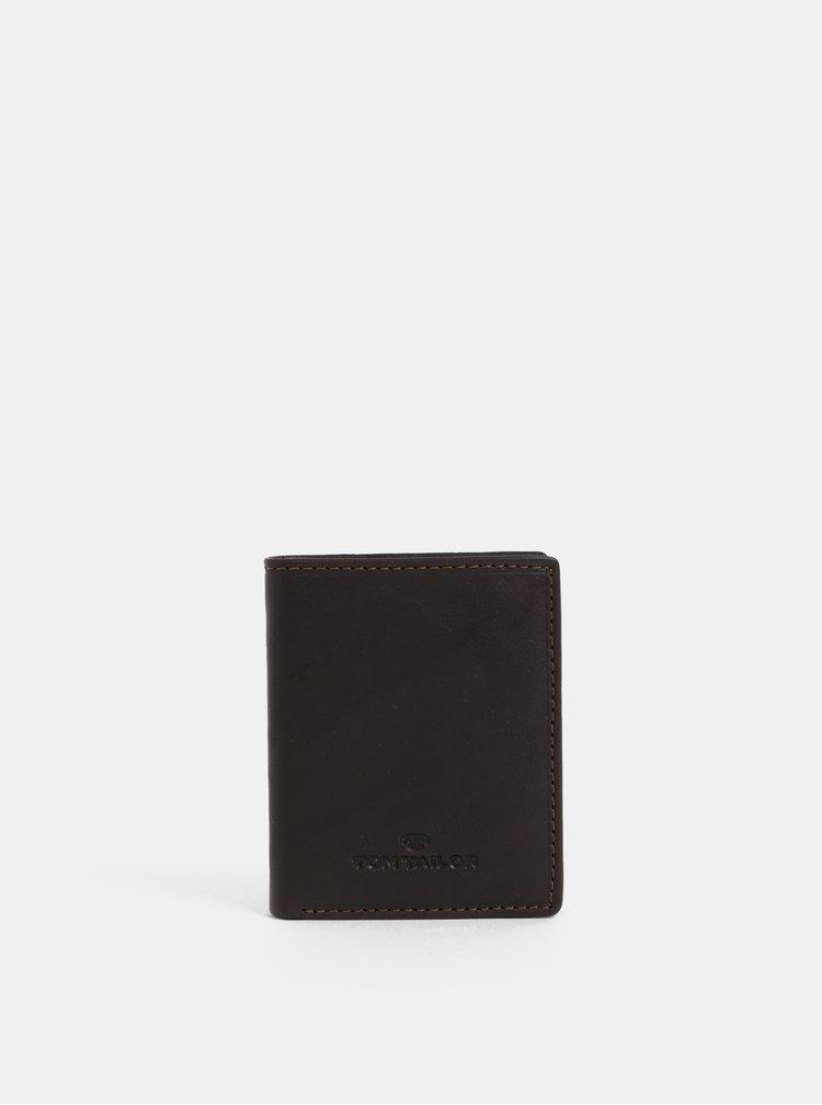 Tmavě hnědá pánská kožená peněženka Tom Tailor Lary