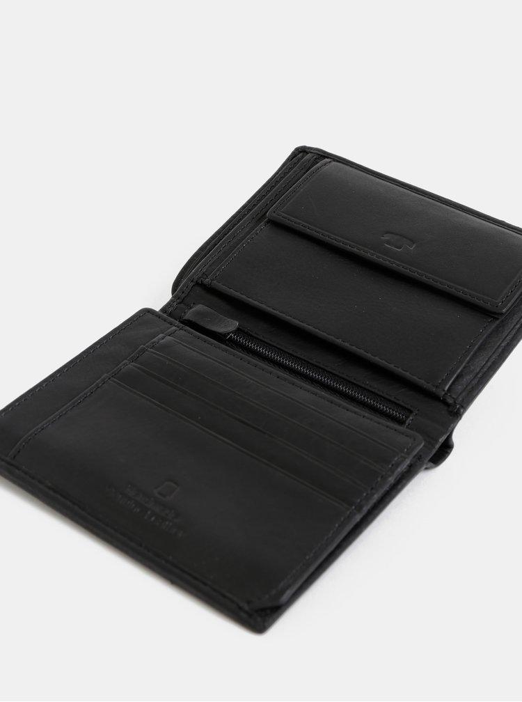 Černá pánská kožená peněženka Tom Tailor Jerrie