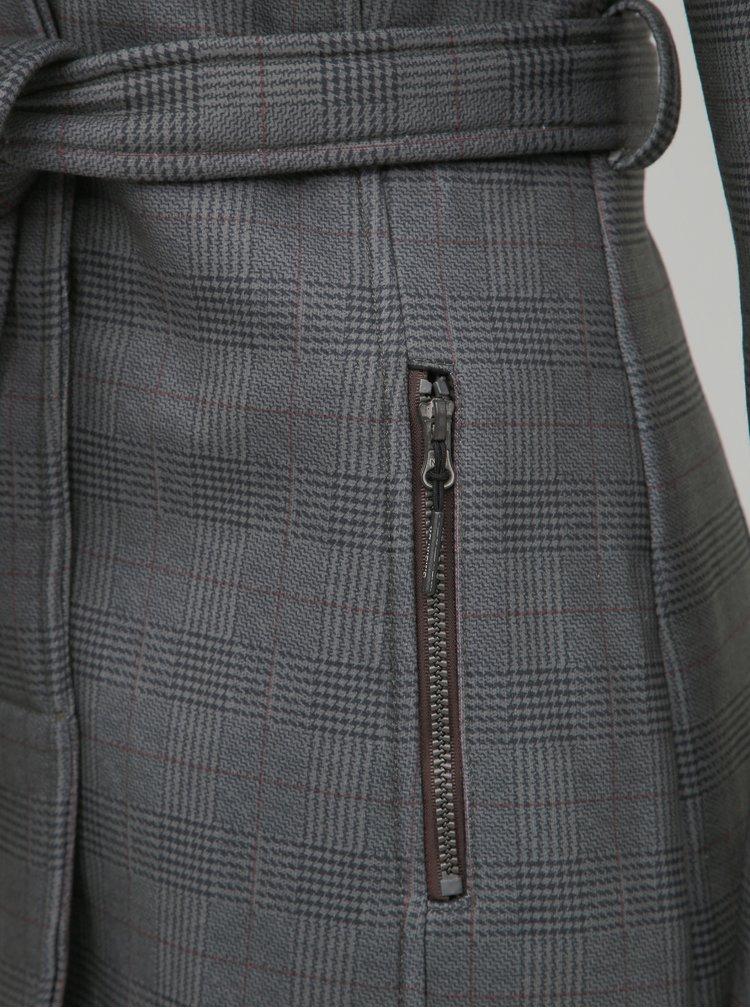 Šedý dámský vzorovaný kabát killtec Frydara