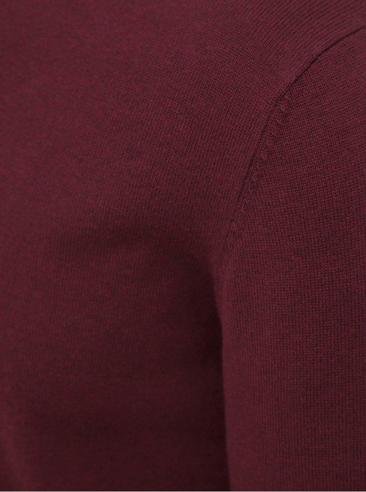 Vínový pánský basic svetr ZOOT