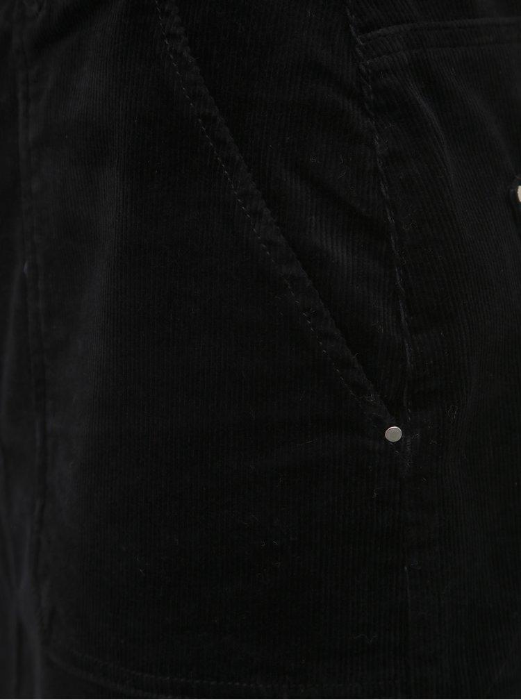 Čierna menčestrová sukňa Dorothy Perkins Tall