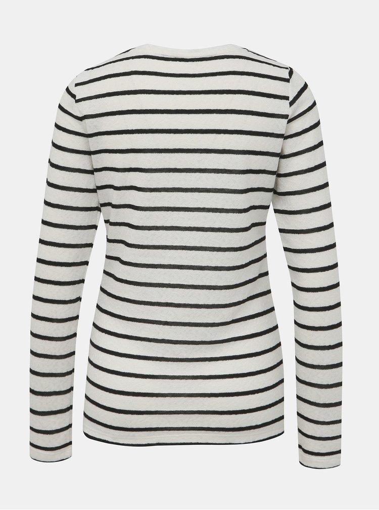 Biele pruhované tričko Dorothy Perkins Tall
