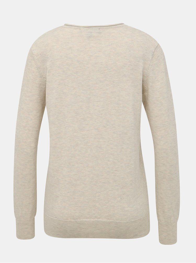 Béžový dámsky basic sveter ZOOT