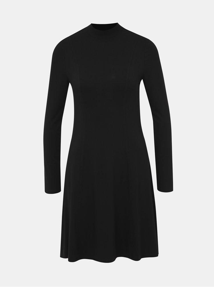 Čierne šaty so stojáčikom Dorothy Perkins