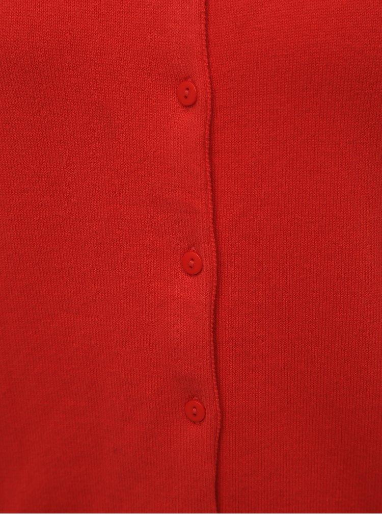 Červený dámsky basic kardigan ZOOT