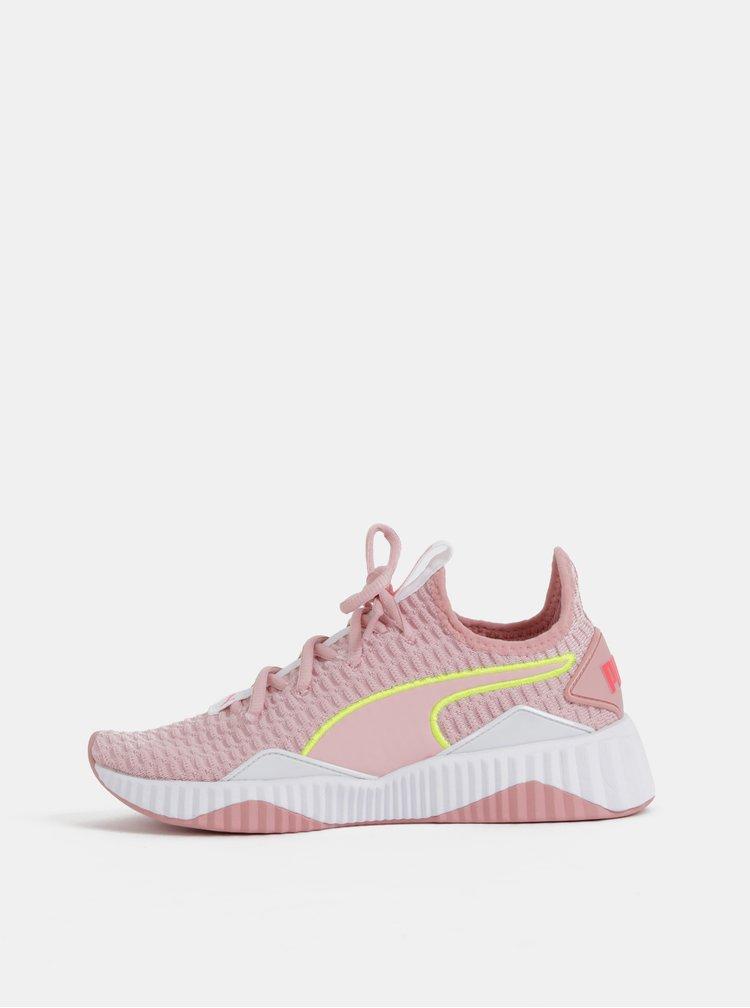 Rúžové dámske tenisky Puma Defy