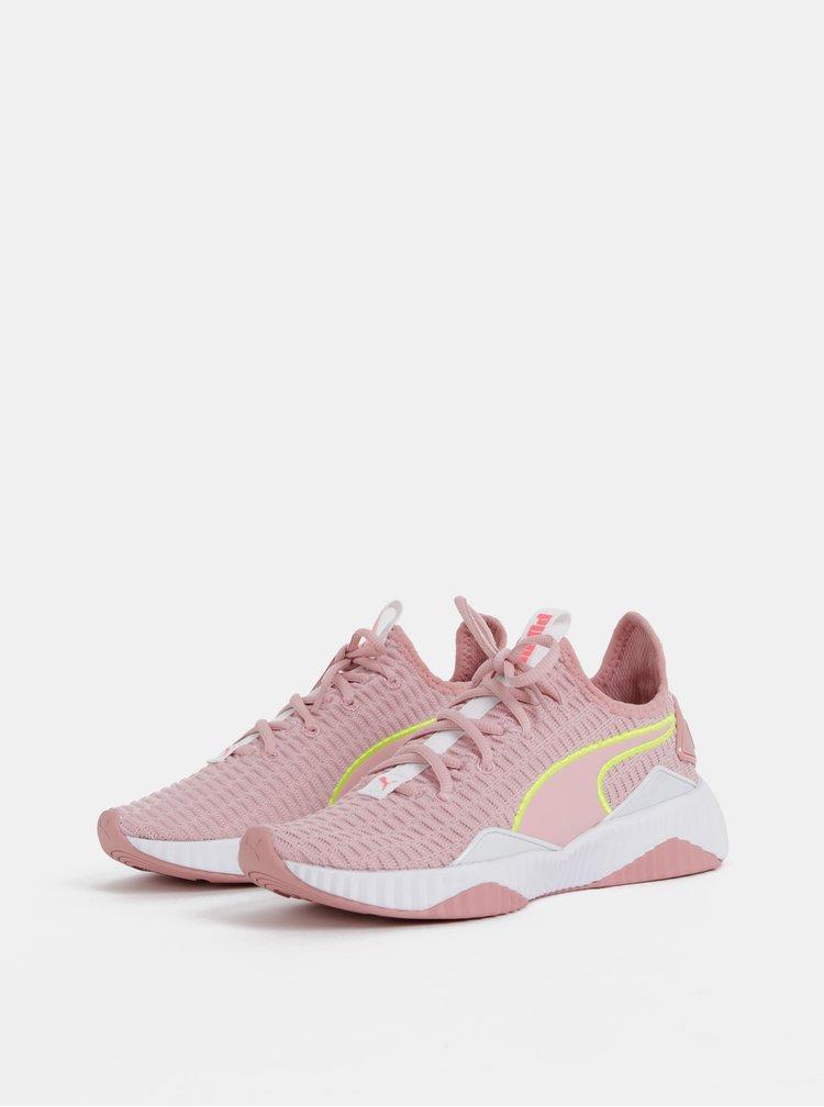 Růžové dámské tenisky Puma Defy