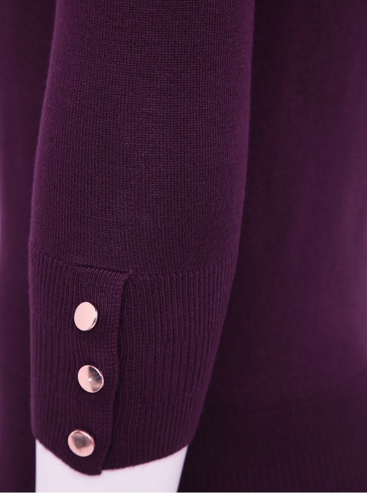 Fialový sveter Dorothy Perkins Petite