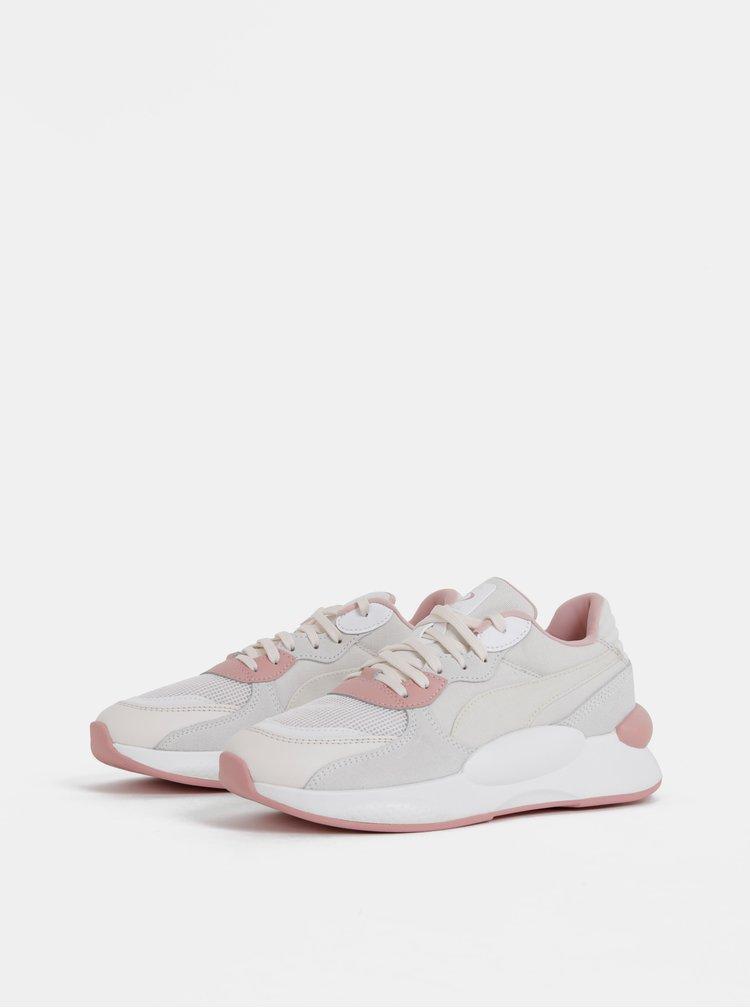 Růžovo-bílé dámské tenisky Puma Space