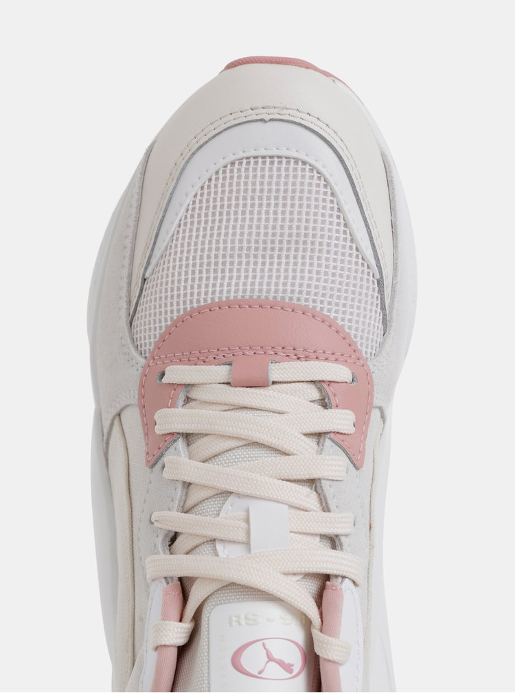 Ružovo-biele dámske tenisky Puma Space