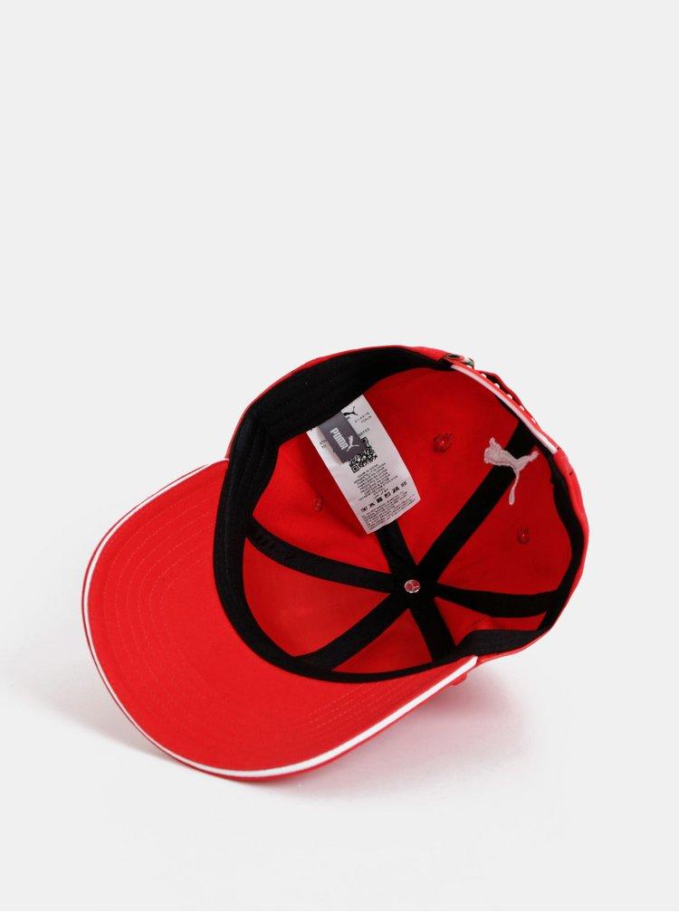 Červená kšiltovka Puma Scuderia Ferrari