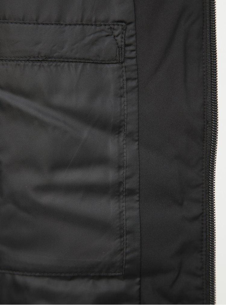 Čierna dámska zimná prešívaná bunda Puma Essentials