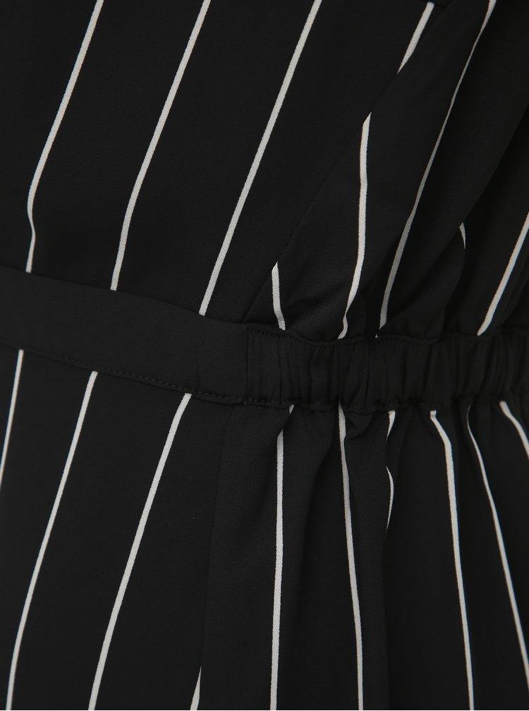 Čierne pruhované šaty Selected Femme Daniella