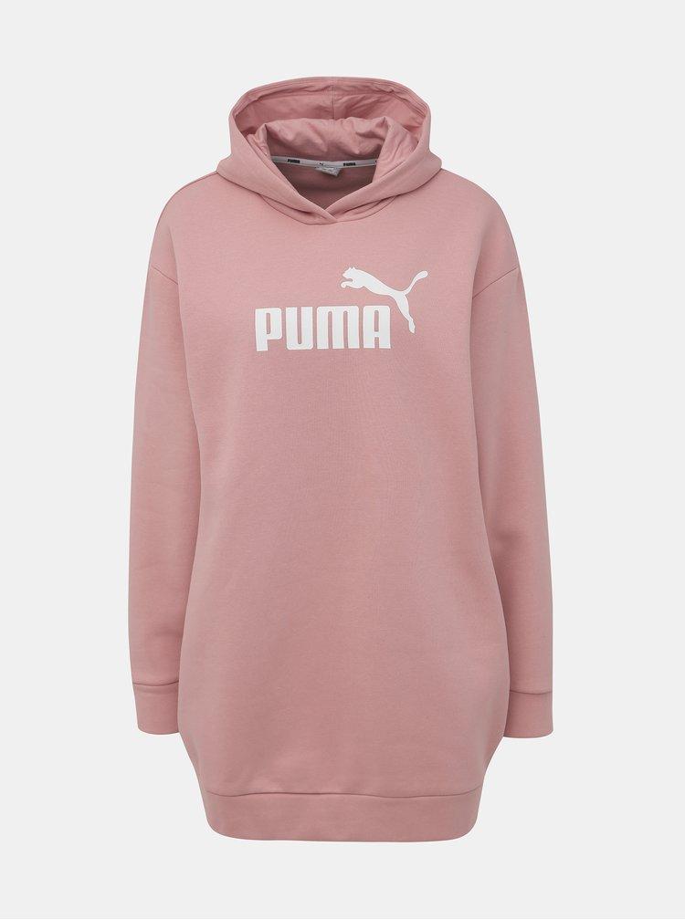 Růžové mikinové šaty Puma Amplified