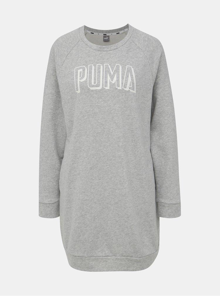 Šedé mikinové šaty Puma Athletics