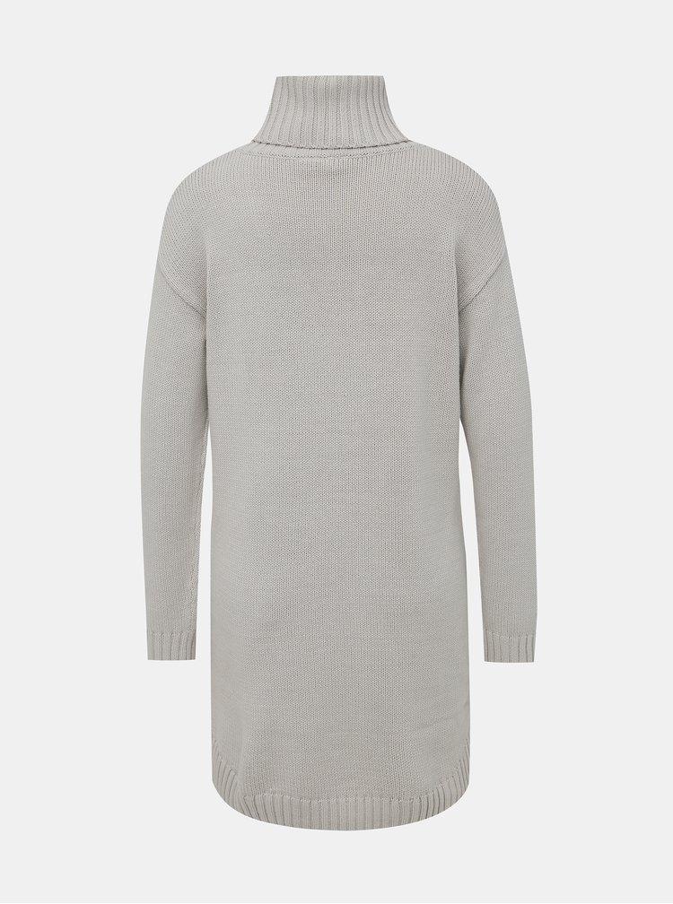 Šedé svetrové šaty s rolákem Roxy Ho Hey