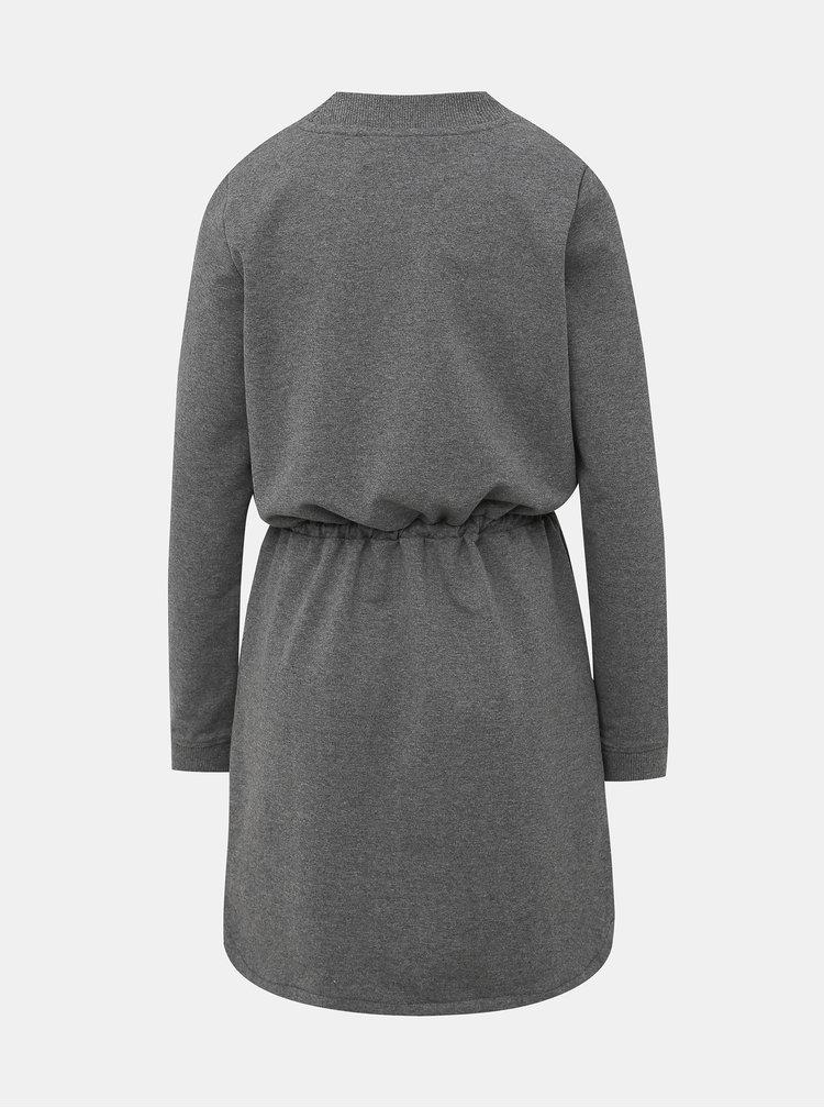 Šedé mikinové šaty Roxy Truly Mine