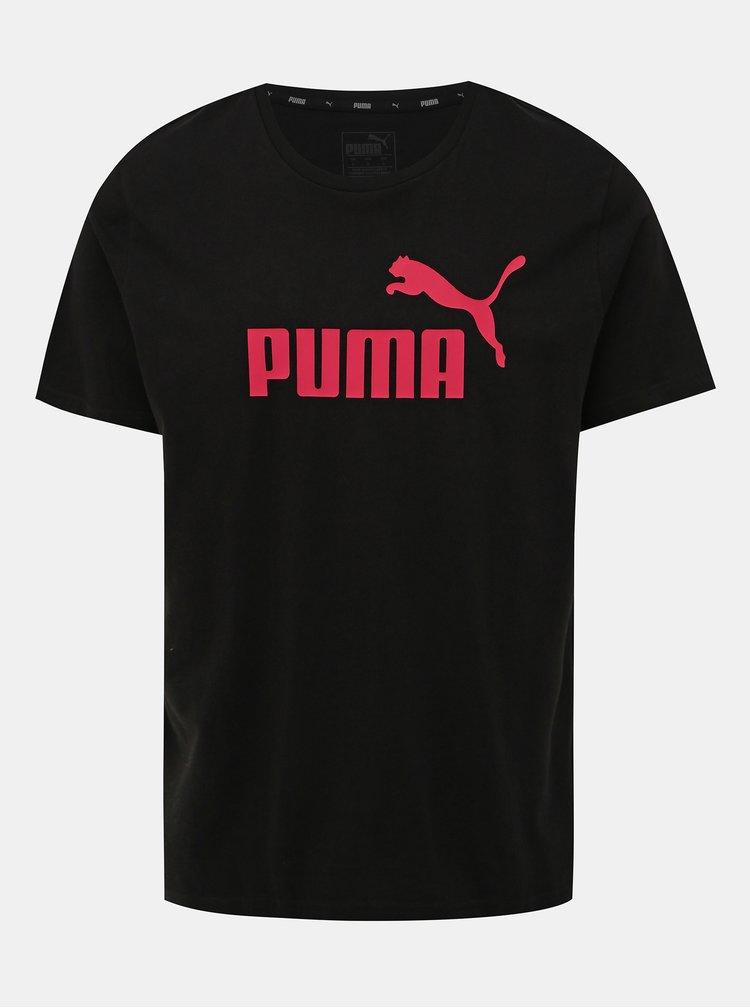Čierne pánske tričko s krátkym rukávom Puma
