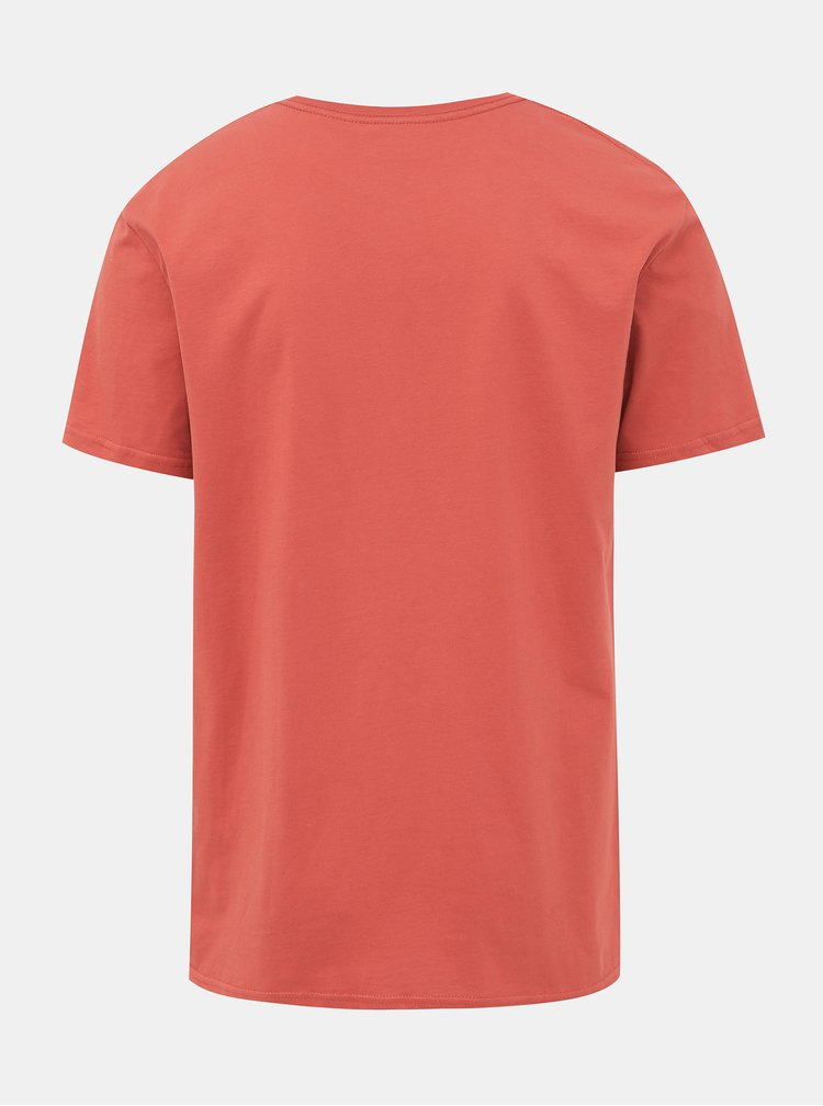 Oranžové tričko s potlačou Quiksilver Legends
