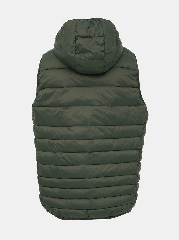 Zelená prešívaná vesta Jack & Jones Bomb
