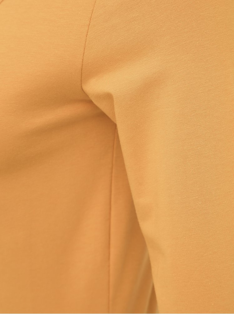 Horčicové basic tričko VERO MODA Maxi