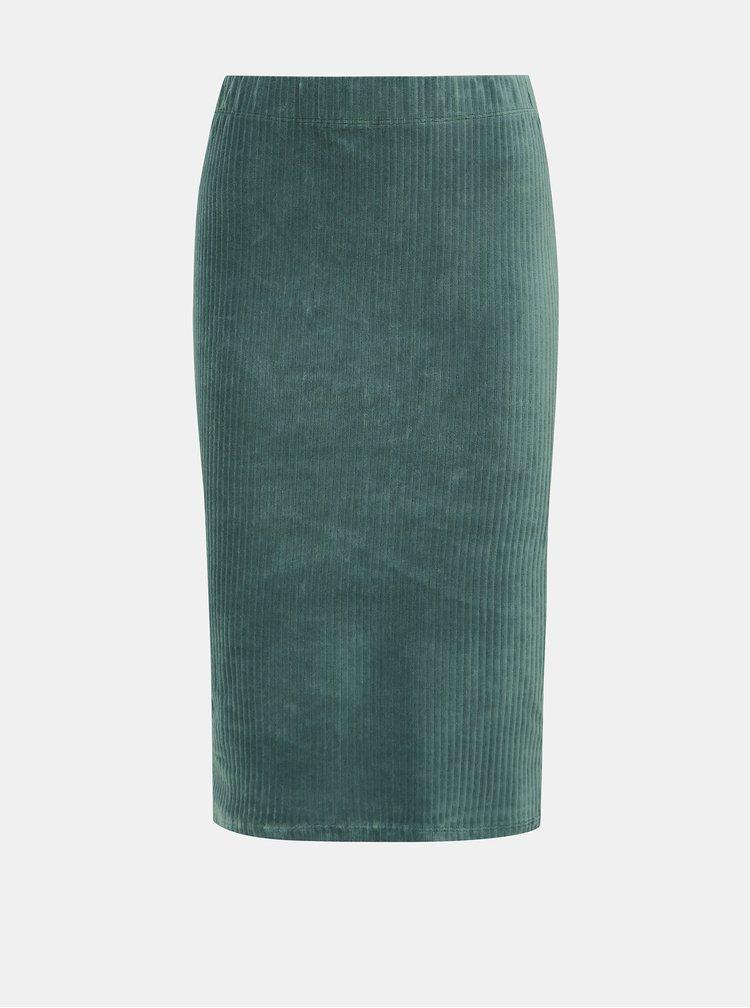 Svetlomodrá menčestrová sukňa VERO MODA Amanda